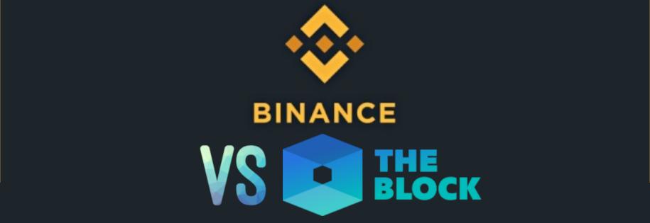 giełda kryptowalut binance, zapowiada pozew przeciwko portalowi the block