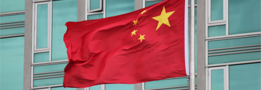 Chiny zamknęły wszystkie giełdy kryptowalut działające w kraju, na zdjęciu flaga Chińskiej Republiki Ludowej