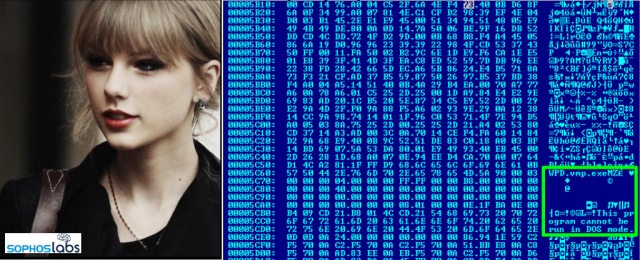 zainfekowane zdjęcie taylor swift ukrywające botnet