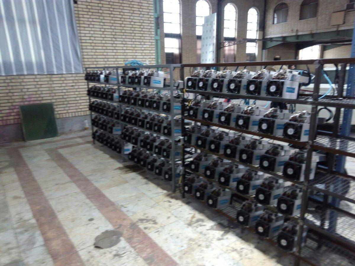 koparki do wydobywania kryptowalut w irańskim meczecie