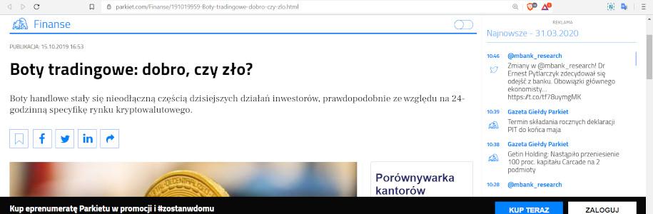 reklama bitcoin profit na parkiet.com 1
