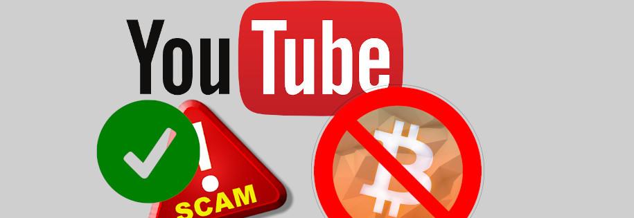 scam ok, ale bitcoin już nie na YouTobie