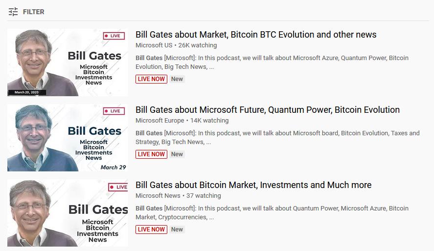 bitcoin profit reklamowany przez fałszywe kanały Microsoftu - źródło ZDNet