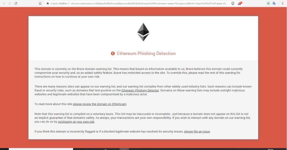 komunikat o ethereum phishing detection