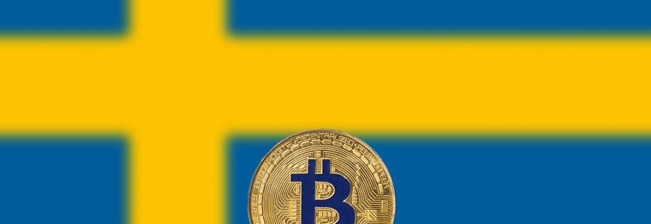 swedish flag & bitcoin