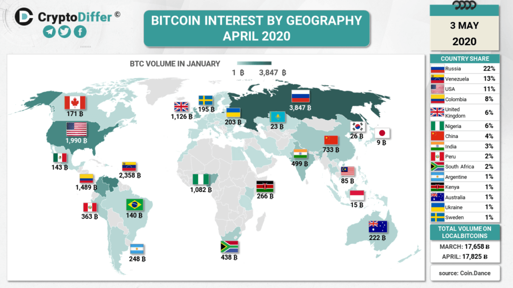 graphic - map - bitcoin - countries