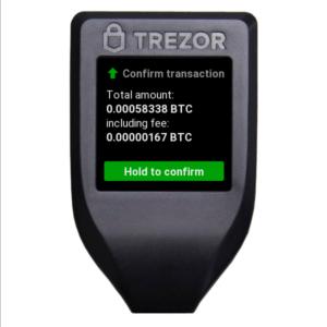 trezor model t - potwierdzenie transakcji