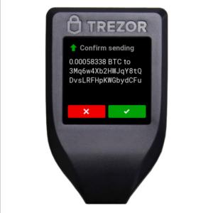 trezor model t - potwierdzenie adresu