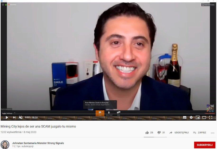 Eyal Avramovich - CEO MineBest reklamuje kryptowalutę bitcoin vault BTCV