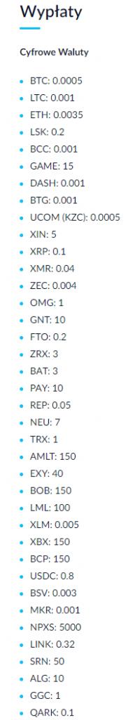 stara tabela opłat na giełdzie bitbay