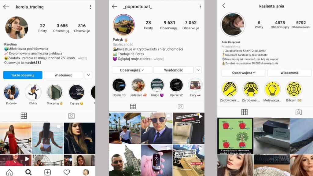 promotorzy scamów na instagramie lista cz. 2