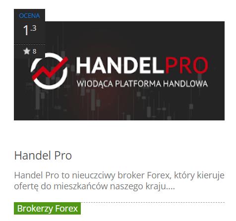 handel pro to nieuczciwy broker forex
