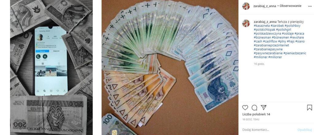 teńcza z pieniędzy