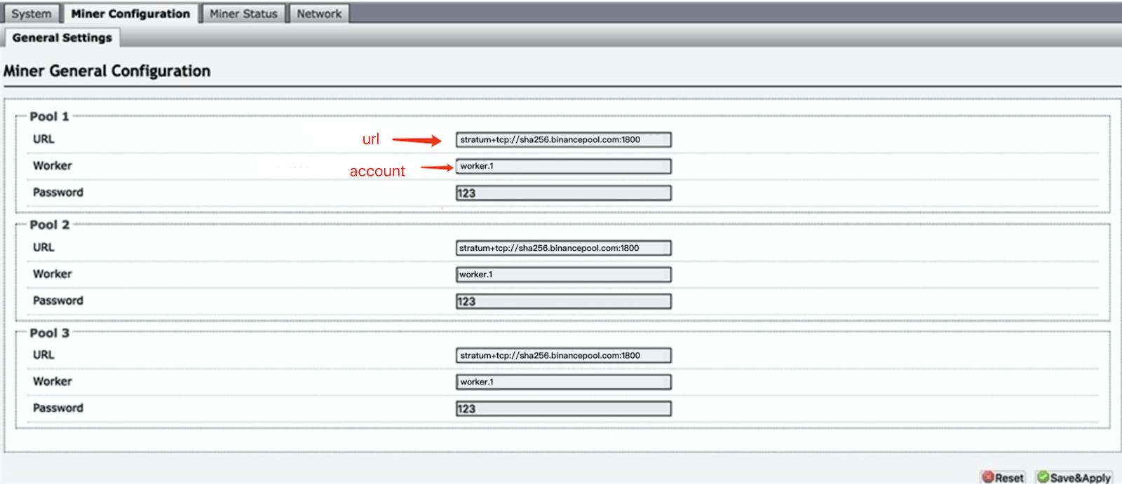 binance mining pool konfiguracja