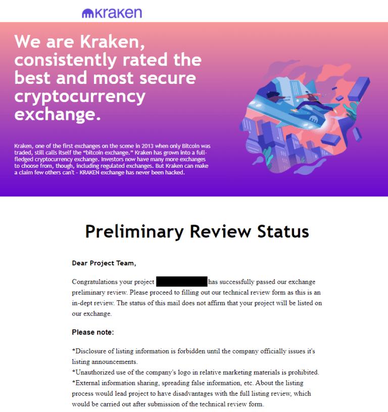 fałszywy email kraken