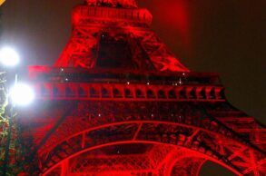 Eiffel Tower red