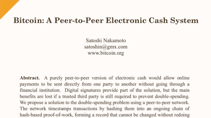 bitcoin whitepaper - 12 rocznica publikacji