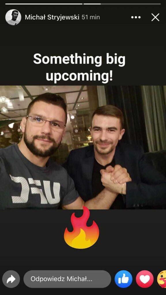 Czyżby współpraca z Gamrotem? - źródło: instagramowe konto Michała Stryjewskiego
