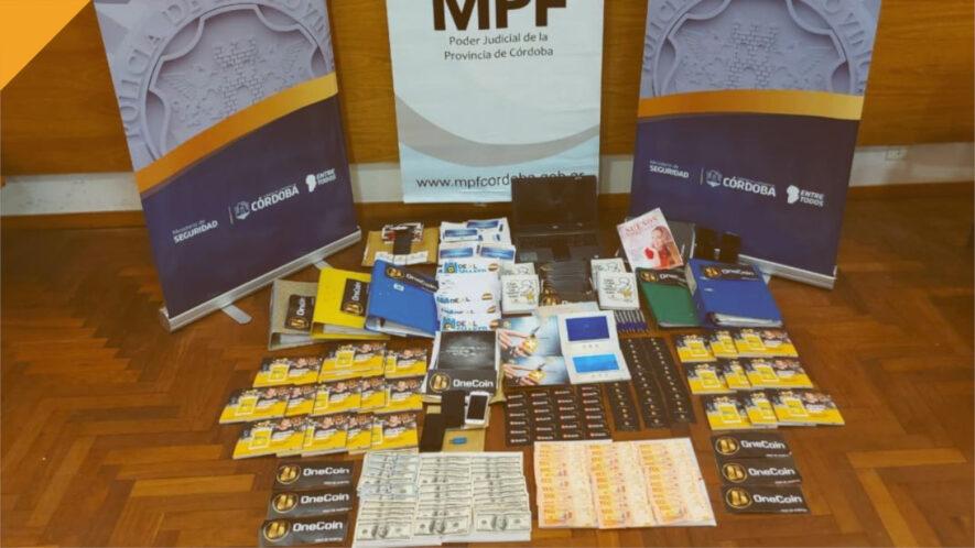 rzeczy skonfiskowane argentyńskim promotorom onecoina