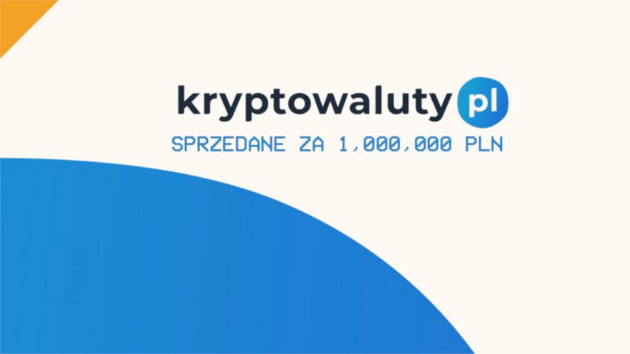 kryptowaluty.pl sprzedane za 1 milion złotych tomaszowi rozmusowi z tokeneo