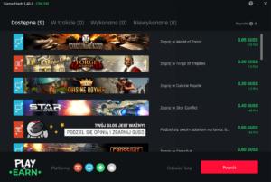 Zarabianie z GamerHash poprzez funkcję Play&Earn