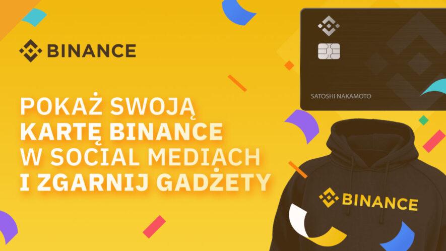 konkurs binance - wygraj gadżety za zdjęcie karty kryptowalutowej
