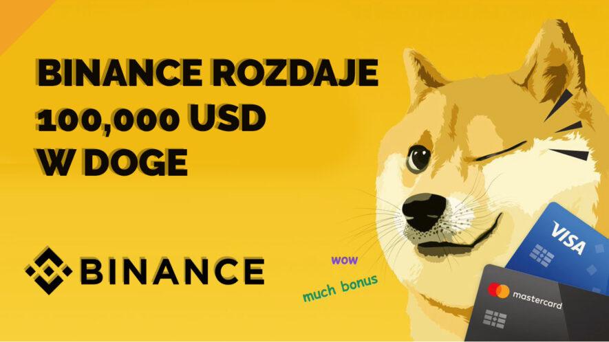 Konkurs od Binance na 100,000 dolarów w DOGE