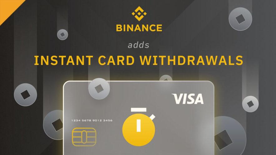 Binance wprowadza natychmiastowe wypłaty karty w EUR i GBP