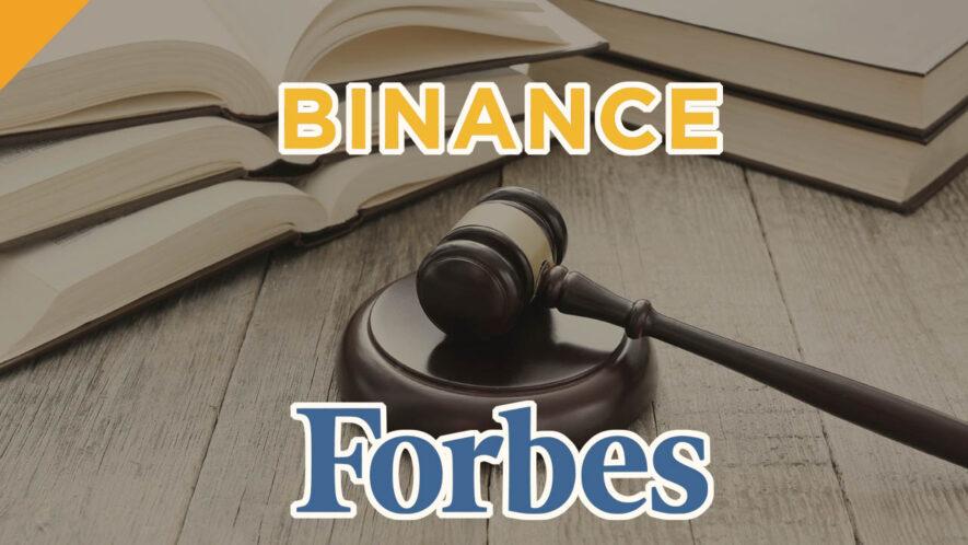 Binance wycofuje pozew przeciwko Forbesowi