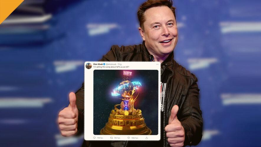 Elon Musk stworzył utwór muzyczny i sprzedaje go jako NFT