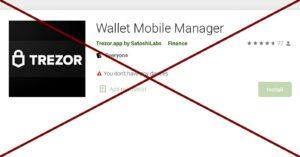 Aplikacja w Google Play podszywająca się pod Trezor