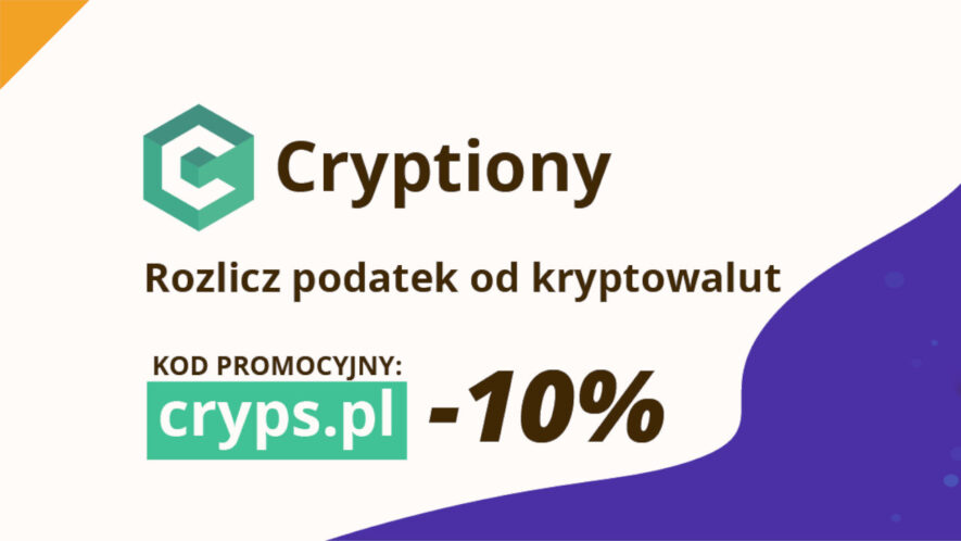 cryptiony to polski start up ułatwiający obliczanie podatków od kryptowalut 10% zniżki z kodem rabatowym od cryps