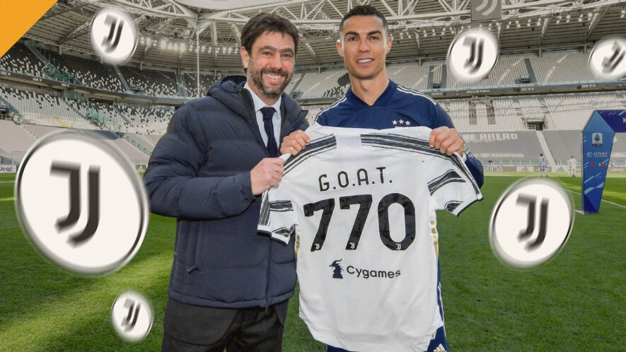 Cristiano Ronaldo otrzymał 1 token JUV za każdego strzelonego gola w karierze