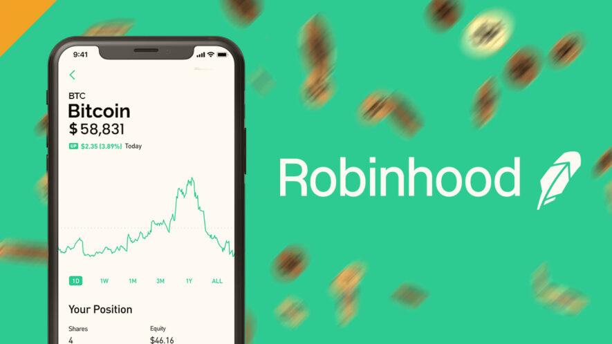 Sektor kryptowalut na platformie Robinhood osiąga nowe rekordy