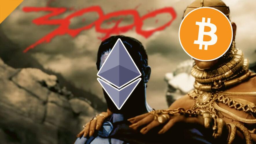 Ethereum przekracza po raz pierwszy poziom 3000 USD