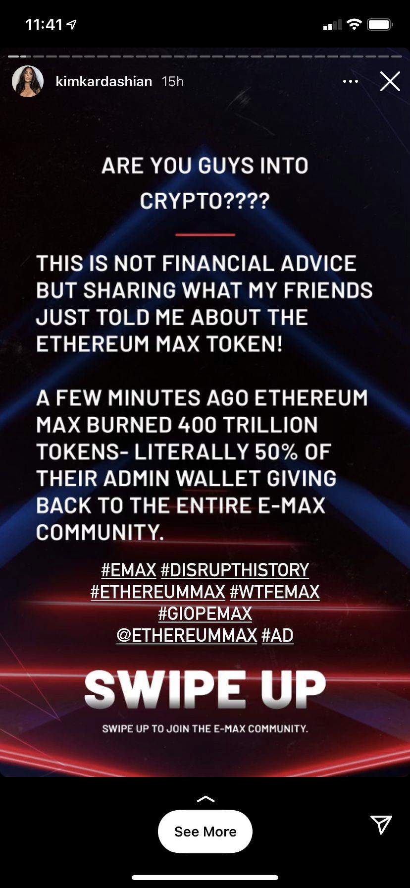promocja ethereum max na ig