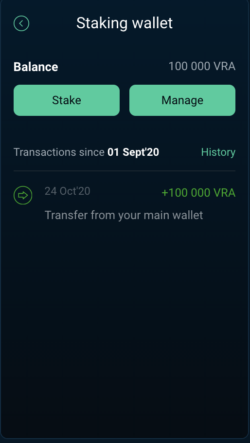 staking wallet