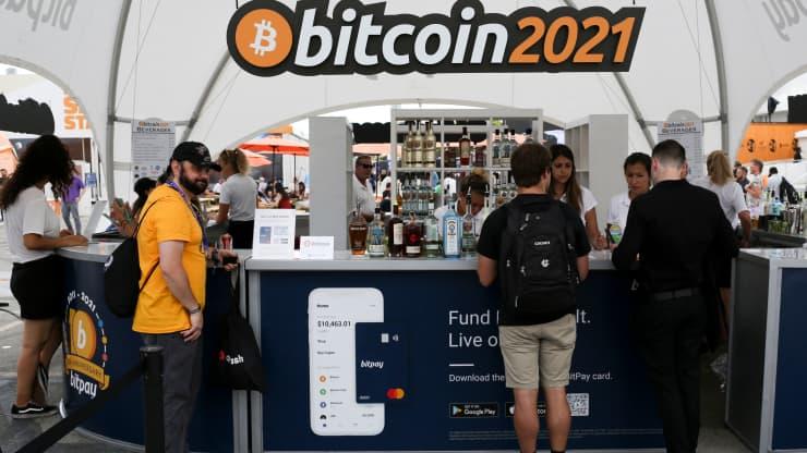 stoisko na Bitcoin 2021 w Miami