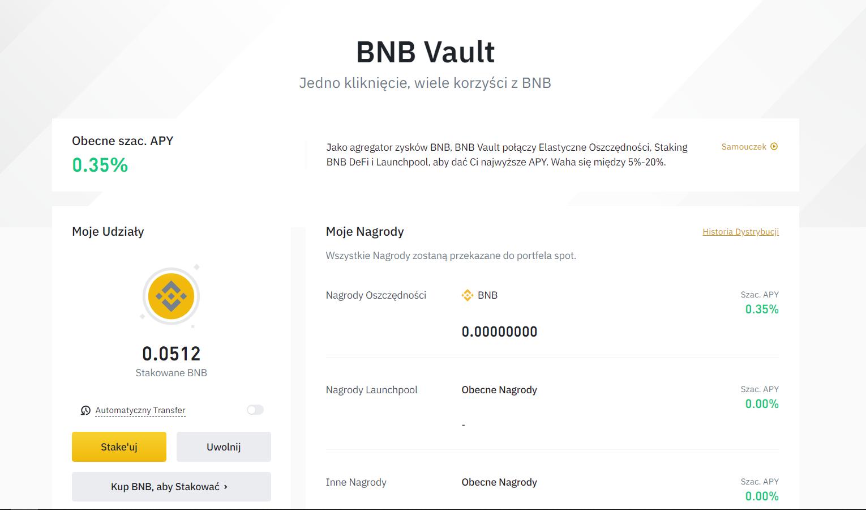 BNB Vault na Binance