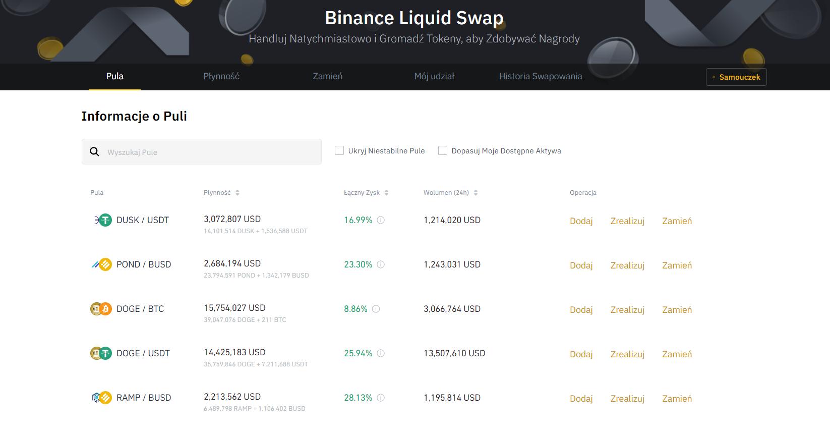 Czym jest Liquid Swap